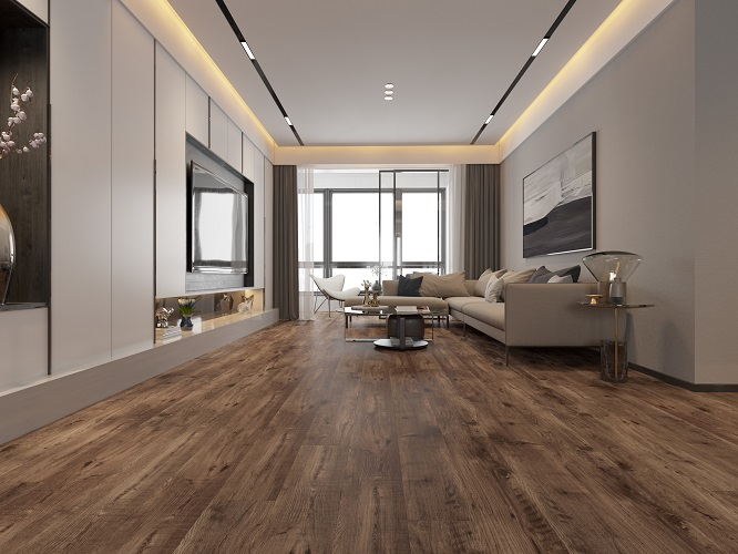 Brown Vinyl Floor